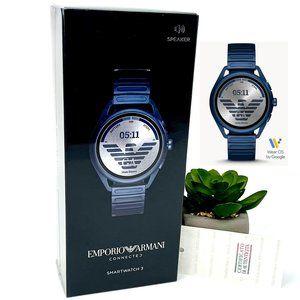 SEALED! EMPORIO ARMANI Matte Blue Smartwatch